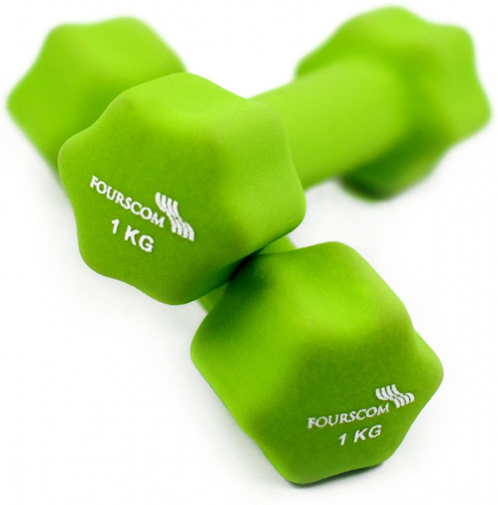 NEOPRENE DUMBBELL 2KG SET - 2 x 1KG